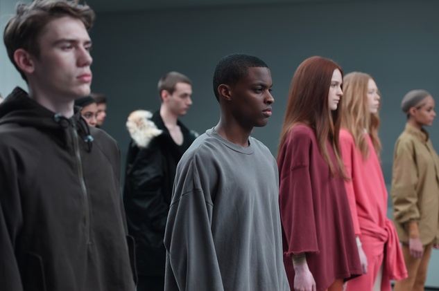 Models walk the runway at the adidas Originals x Kanye West YEEZY SEASON 1 fashion show