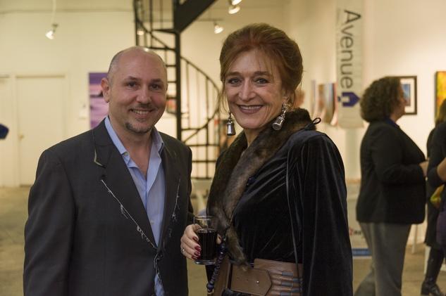 Nicola Parente and Raphaele at Art on the Avenue November 2013