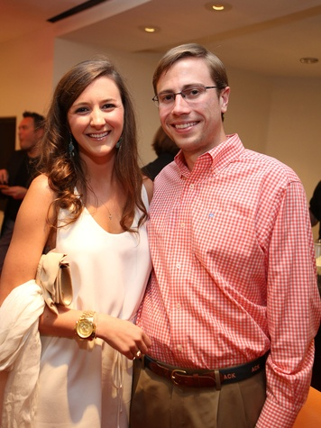 Alley Theatre Young Professionals event July 2013 Paige Benefield and Lexington May