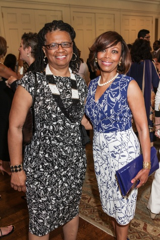 9544 Alease Young, left, and Lora Clemmons at the National Kidney Foundation luncheon May 2014