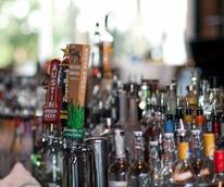 The Ranch Austin liquor bottles beer taps