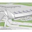 1 Hobby Airport terminal design rendering aerial overall