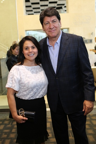 News, Shelby, Alley Theatre opening night dinner, August 2014, Leti Morales and Mike Loya