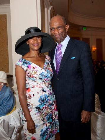 Suzette and Kirbyjon Caldwell at Hats Off to Mothers March 2014