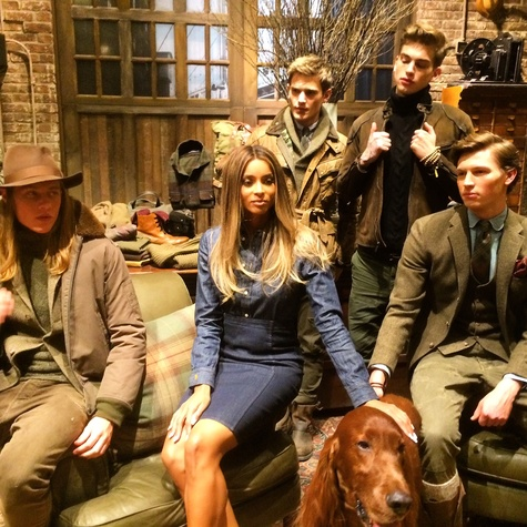 Ciara at Polo Ralph Lauren presentation New York Fashion Week