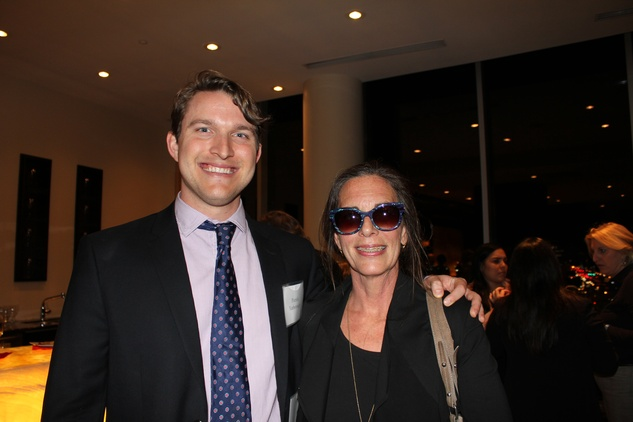 2 Patrick Yarborough and Susannah Touzel at the Jane's Due Process fundraiser February 2015.