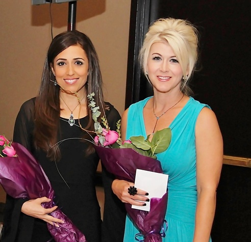 4 Sonia Azad, left, and Lisa Slater at the Ovarcome Gala May 2014