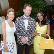 20 Patti Murphy, from left, Jeff Shell and Jacquie Baly at the Best Dressed luncheon March 2015