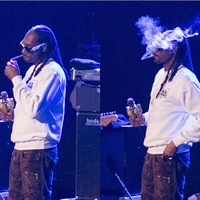 Cropped photo of Snoop Dog partaking at Club Nomadic