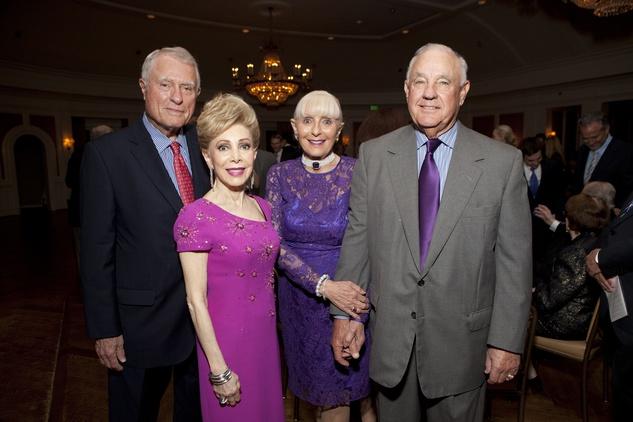 8 Jim Daniel, from left, Margaret Alkek Williams and Carole and Ronald Krist at the Krist Samaritan Center dinner