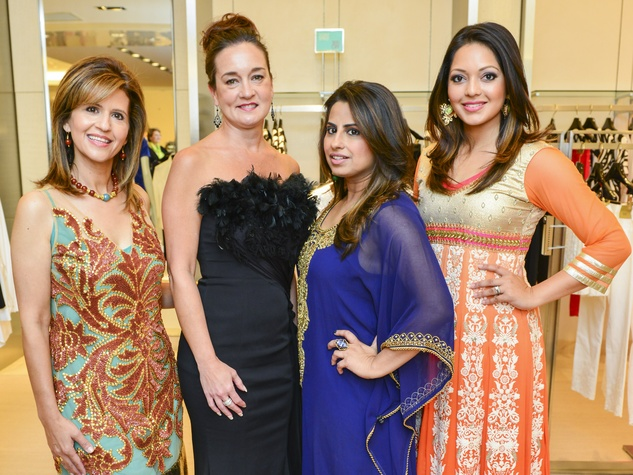 3 Mehrnaz Gill, from left, Toni Tate, Ruchi Mukherjee and Rekha Muddaraj at the International Mother's Day Soiree May 2014