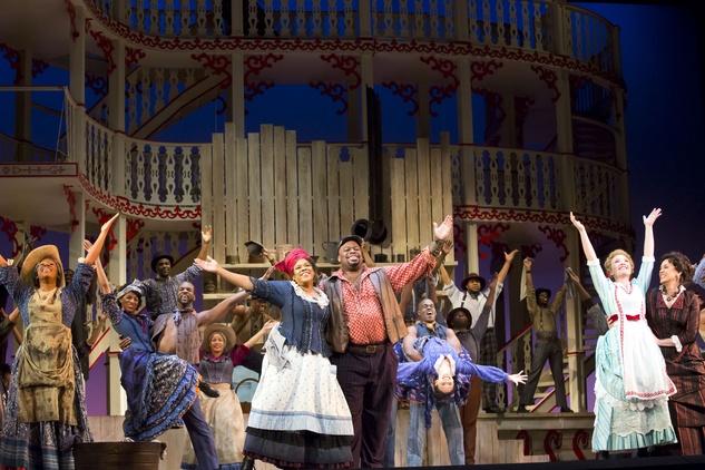 "Houston Grand Opera, Showboat, January Queenie (Marietta Simpson), Joe (Morris Robinson), Magnolia (Sasha Cooke) and Julie (Melody Moore) sing Can't Help Lovin' Dat Man"""