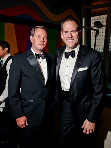 Clinton Turner, left, and Jeff Gremillion at Bering Omega's Sing for Hope