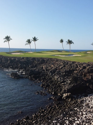 Jane Howze Postcard from the Big Island Hawaii December 2013 15th hole at Mauna Lani