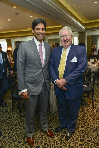 Nabeel Amudi, left, and Fenner Weller at the Crime Stoppers luncheon May 2014.
