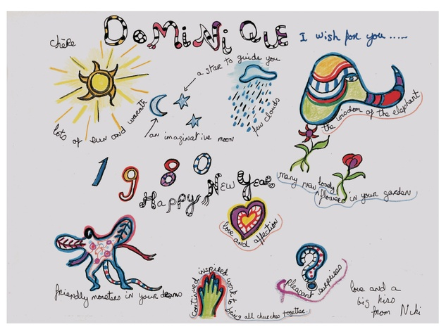 The Menil Collection, Dear John and Dominique, September 2012, Niki de Saint Phalle, New Year's