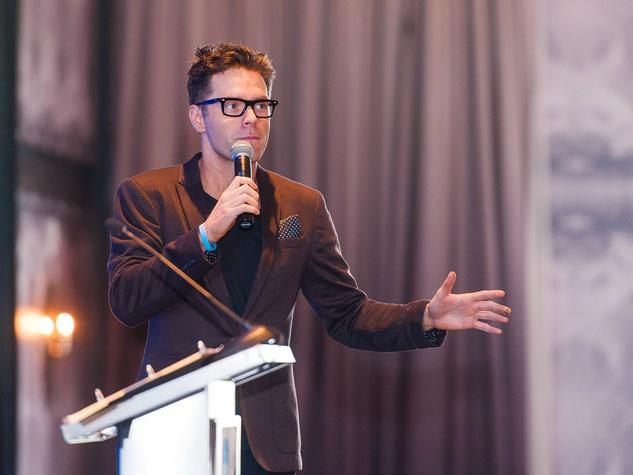 Andry Roddick Foundation Opportunity Matters Luncheon Hotel Van Zandt April 2016 Bobby Bones speaking
