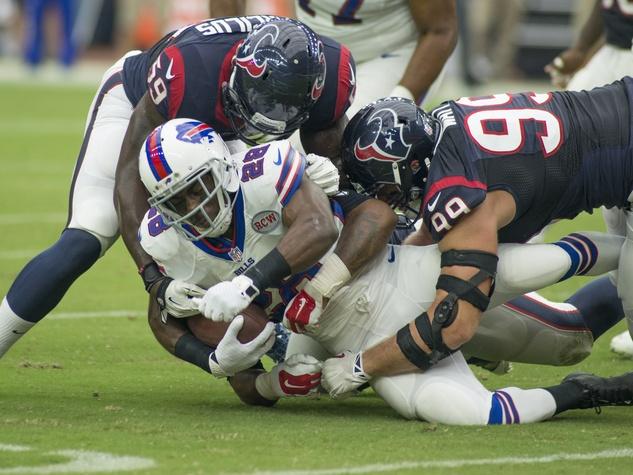 J.J. Watt Texans Bills team tackle