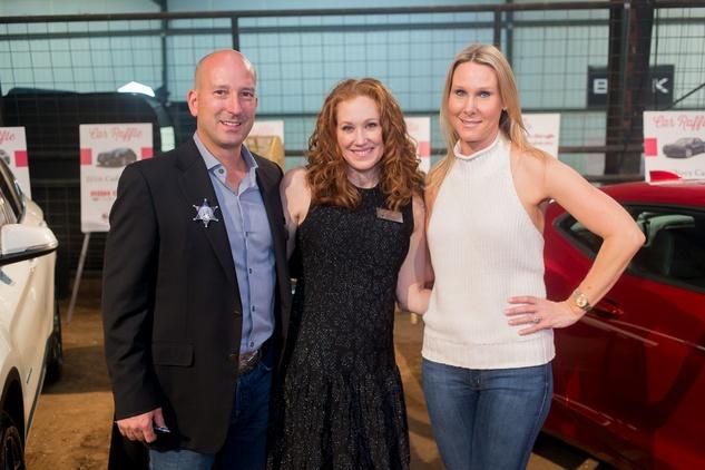 Cattle Baron's Ball, 4/2016 Matt Faria, JoLynelle Farina, Debbie Chenevert