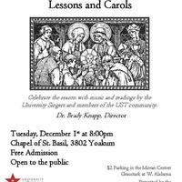 The University of St. Thomas University Singers: Lessons and Carols