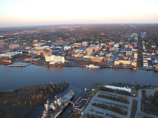 Wilmington North Carolina aerial shot