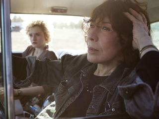 Julia Garner and Lily Tomlin in Grandma