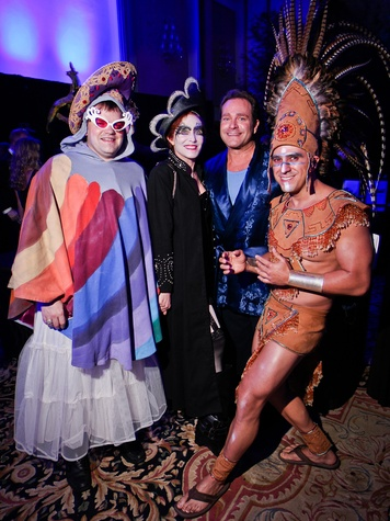 Christopher Hughes, Curry Glassell, Don Mafrige Jr. and Fabian Suarez at DREAMSCAPE The Orange Show's 32nd Annual Gala November 2013
