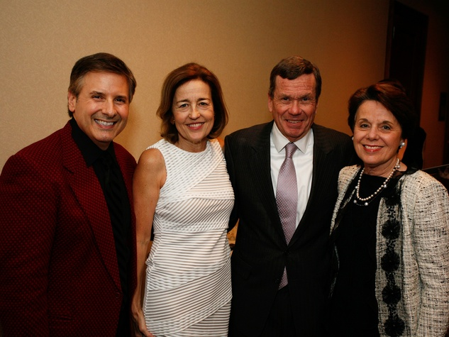 Ernie Manouse, from left, Andrea White and Richard Mithoff and Ginni Mithoff at Masterpiece Evening April 2014