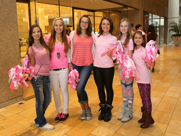 Emily Hall, from left, Megan Parker, Rose Steel, Hope Tucker, Merrit Mahoney and  Georgia Mahoney at Neiman Marcus' Stiletto Strut
