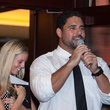 Owen Daniels, celebrity dinner, Houston Texas, September 2012, Cody steals the show at the auction