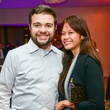 Fernando Castaldi and Carol Tai at the Young Professionals Backstage party January 2014