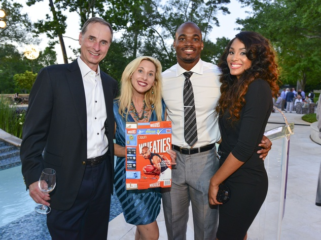 News Houston Children's Charity Gathering of Champions, Harry & Tracy Faulkner, Adrian & Ashley Peterson, April 2014