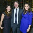 7 Meagan Brophy, Chuck Rosson, Margot Treviño at Vallone's opening party November 2013
