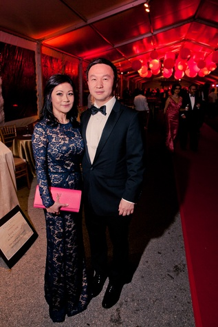 29 Lulu Tan and Hugh Zhang at the Asia Society Tiger Ball March 2015