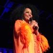 Diana Ross in orange gown November 2013