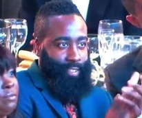 James Harden stares at Nicki Minaj at NBA Awards