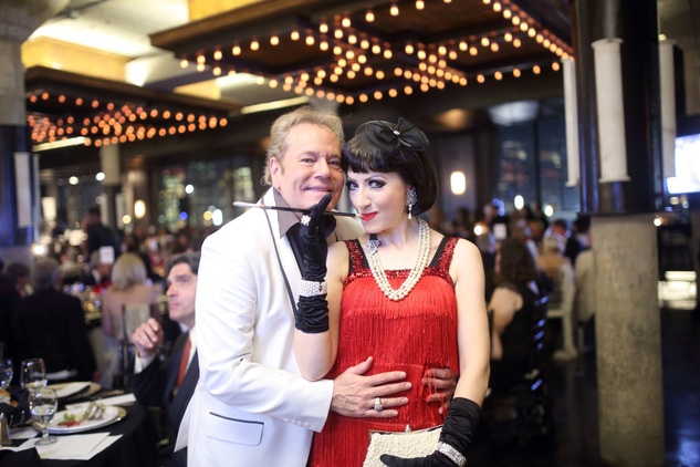 Bubba McNeely and Yasmine Haddad at the Stages Repertory Theatre Gala April 2015