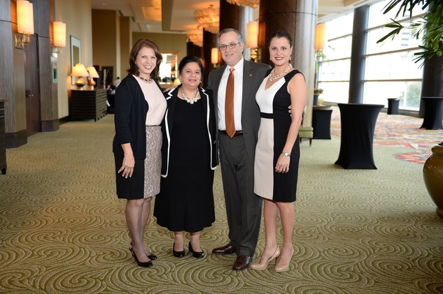 Beckie Mir, from left, Consuelo Castillo Kickbusch, Gasper Mir and Marcie Mir at the El Centro de Corazon luncheon March 2015