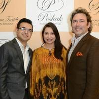 1 Anas Ahmed, from left, Sameera Faridi and Jared Lang at the Sameera Faridi Grand Opening February 2015