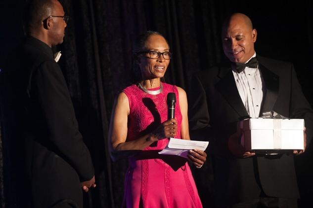 News, Shelby, Ensemble Theatre gala, Aug. 2015, Sherra Aguirre