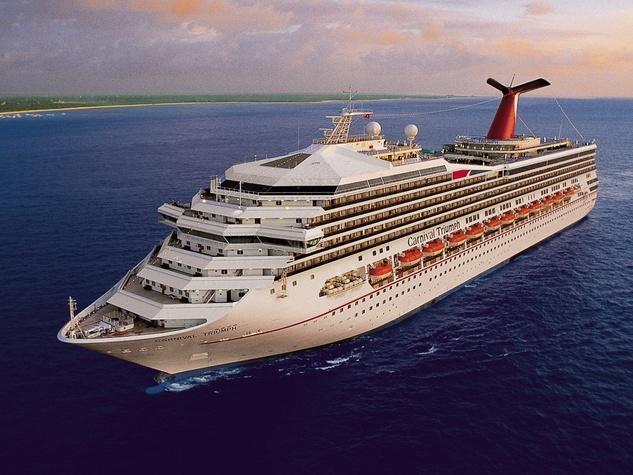 Carnival Triumph cruise ship ocean