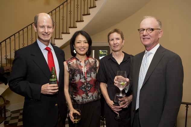 0216 Eddie and Chinhui Allen, from left, and Diane and Mike Cannon at the Tiger Ball kickoff party September 2014