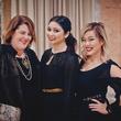 23 Cara Crafton, from left, Ashley Dana and Linda Pham at the Pam & Gela party November 2014