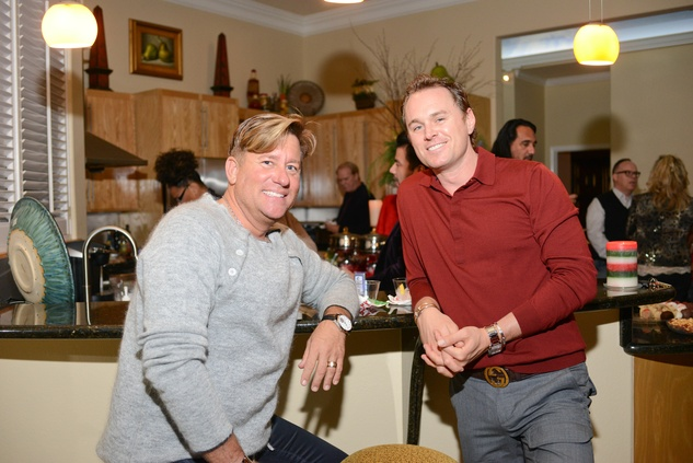 Brian Teichman, left, and Andrew Cordes at Bubba and Mark's Christmas Party December 2014