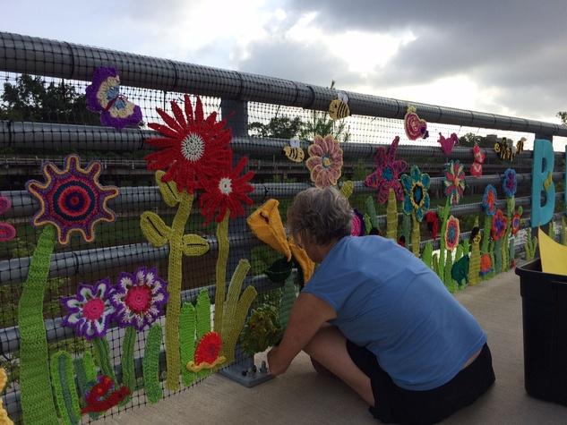 News, shelby, Buffalo Bayou Park, Yarn Bomb, June 2015
