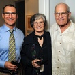 11 Dean Putterman, left, with Anne Wilkes Tucker and Clint Willour at the Art Circle launch October 2013