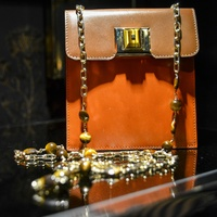 Andrew Gn handbags and accessories Paris June 2013 orange bag with chain