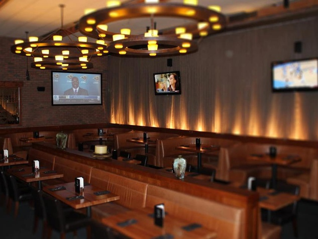 6 Sports Bar Interior Design Cover 3 Offers Giant TVs For Your Game Viewing Pleasure Along With A