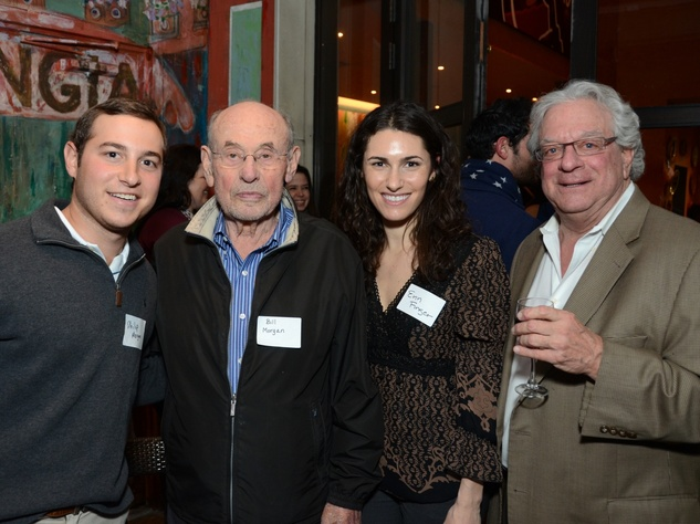 16 Philip Morgan, from left, Bill Morgan, Erin Finger and Steve Zimmerman at the Holocaust Museum Houston's Next Generation Young Professionals kickoff party November 2013