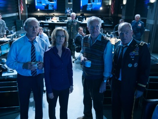 Victor Garber, Felicity Huffman, Jim Broadbent and Ted Levine in Big Game